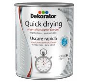 Greitai džiūstanti alkidinė emalė DEKORATOR, dramblio kaulo, 0,75 l