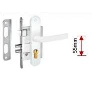 Įleidžiama spyna Rita, balta, su mechanizmu, 404Z-35809/2, 55 mm