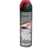 Aerozol.konstrukcijų žymėjimo dažai raudoni 500ml BIODUR, 400 ml