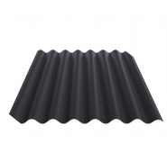 Lakštai banguoti 5,5 bangų Fibrodah, grafito, 585 x 920 x 5,8 mm