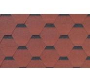 Bituminės Čerpelės Bitumen tile raudona, Pakuotėje 3m2