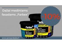 """""""Farbex"""" dažams mediniams fasadams 10% nuolaida!"""