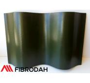 Lakštai banguoti 8 bangų Fibrodah, žali, 1000 x 1130 x 5,8 mm
