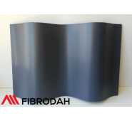 Lakštai banguoti 8 bangų Fibrodah, grafito, 1000 x 1130 x 5,8 mm