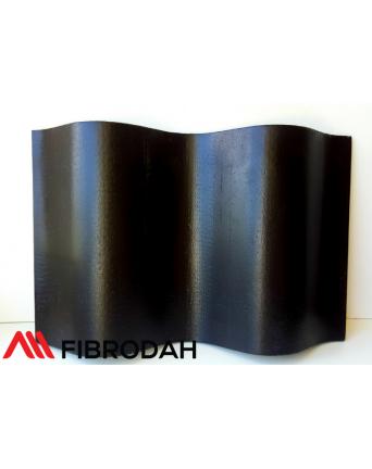 Lakštai banguoti 8 bangų Fibrodah, juodi, 1000 x 1130 x 5,8 mm