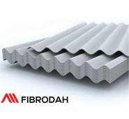 Lakštai 8 bangų Fibrodah, pilka, 1750 x 1130 x 5,8 mm