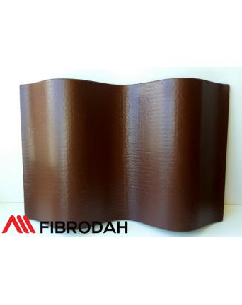 Lakštai 8 bangų Fibrodah, rudas, 1750 x 1130 x 5,8 mm