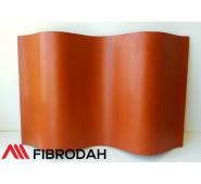 Lakštai banguoti 8 bangų Fibrodah, terakota, 1000 x 1130 x 5,8 mm