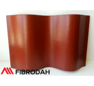 Lakštai 8 bangų Fibrodah, vyšninė/bordo, 1750 x 1130 x 5,8 mm