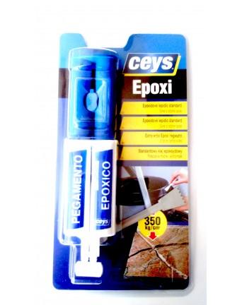 Epoksidiniai dviejų komponentų klijai širkštuose Standart epoxy, 24 ml