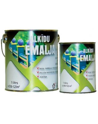 Alkidinė emalė grindims Biolar ruda, 0,8 L