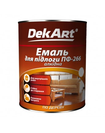 Alkidinė emalė grindims DekART geltonai-ruda, 2,8 kg