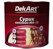 Geležies surikas DekArt raudonai-rudas, 2,5 kg