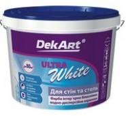 Akriliniai dažai sienoms ir luboms DekART ULTRA WHITE , 1,2 kg