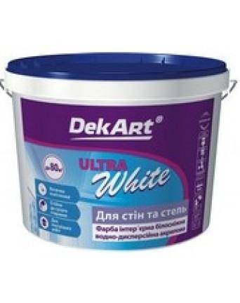 Akriliniai dažai sienoms ir luboms DekART ULTRA WHITE, 12,6 kg