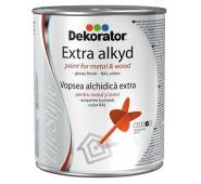 Blizgi alkidinė emalė DEKORATOR EXTRA RAL1028 geltonas melionas, 18 L.