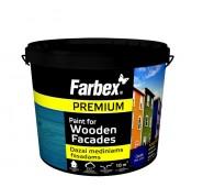 Dažai mediniams fasadams Farbex, balta, 1.2 kg