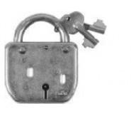 Pakabinama spyna LOTE, nedažyta, 5206.3, komplekte 3 raktai
