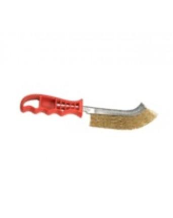 Šveitimo šepetys 1 eilės metalinis plastikine rankena Star 819703