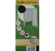 Tinkliukas durims Best Price dviejų dalių baltas, 2 x 60 x 210 cm